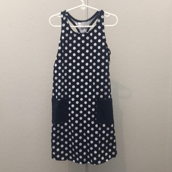 Hanna Andersson Other - Hanna Anderson Navy and white polka dot dress